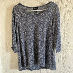 AB Studio Blue Sweater Top Size Small